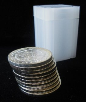 Roll Of 20 Morgan Silver Dollars- 1878-1921 G-xf