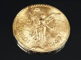 Stunning Mexican 50 Peso Gold Coin