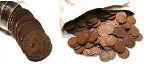 Lot Of 100 Indian Head Cents From Cache