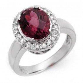 3.4ctw Pink Tourmaline & Diamond Ring