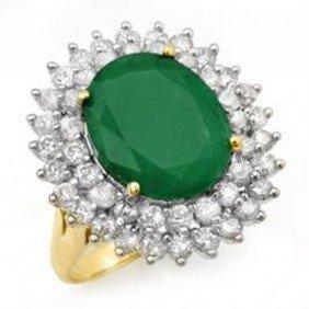 10.83ctw Emerald & Diamond Ring 14K