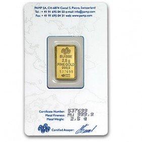 2.5 Gram Pamp Suisse Ingot