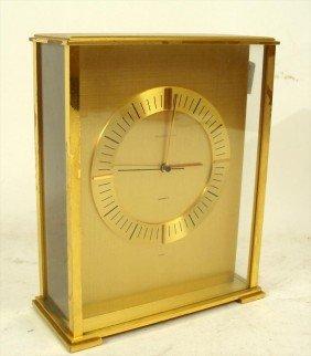 Tiffany & Co. Brass Presentation Clock