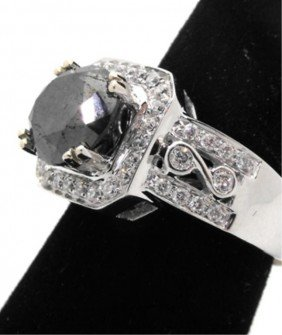 $10,573.00 Appraised Black Diamond Ring