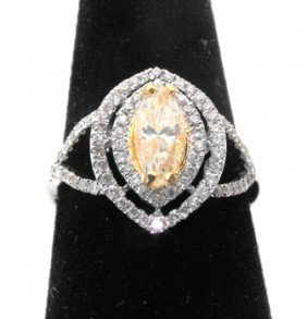$8,550 Appraised Yellow Diamond Ring