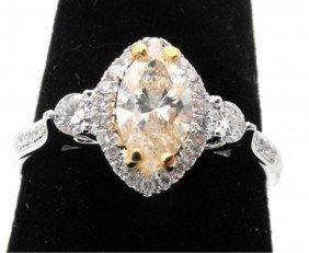 $6,500 Appraised Yellow Diamond Ring