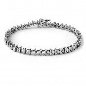 Natural 1.0 Ctw Diamond Bracelet