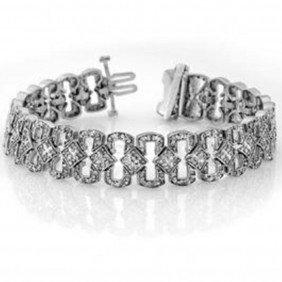Natural 3.0 Ctw Diamond Bracelet 14K White Gold