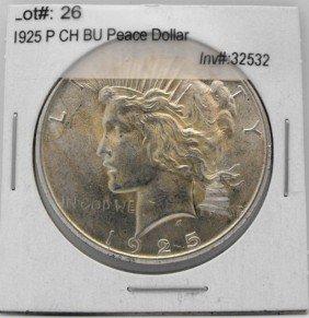 1925 P CH BU Peace Dollar