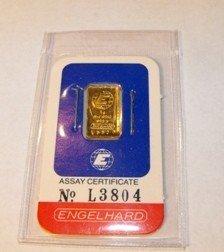 Englehard 1 Gram Pure Assayed Gold Ingot