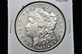 RARE 1888 S KEY DATE BU Morgan Dollar