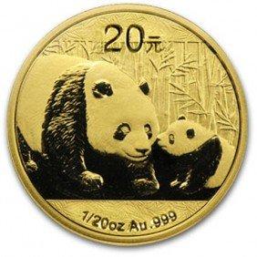 A 1/2 Oz. Gold Chinese Panda Bullion
