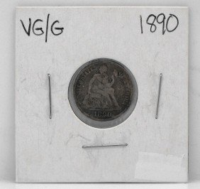 1890 Seated Liberty Dime