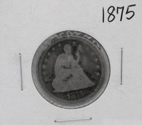 1875 Seated Liberty Quarter