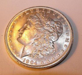 1904 O BU Morgan Silver Dollar