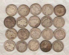 A Lot Of (20)Barber Quarters