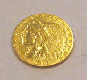1911 $ 2.5 Gold Indian Coin