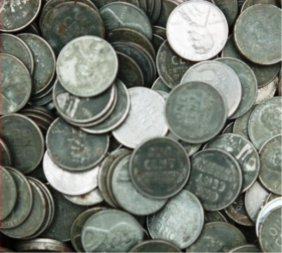 Lot Of 100 Steel Wheat Cents
