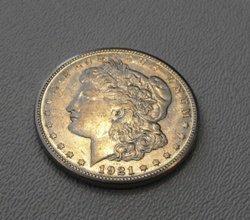 1921 Micro S Morgan Silver Dollar