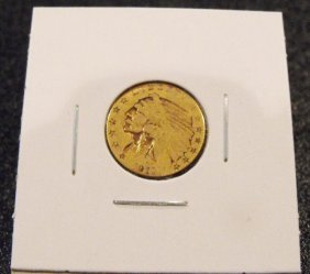 1911 $ 2.5 Indian Gold US Coin