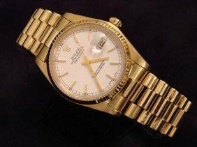 18k Yg Rolex Presidential Man's Watch Oyster