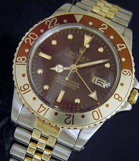 Rolex 2tone 18k Yellow Gold/stainless Steel Gmt