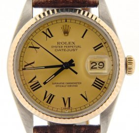 Rolex 2tone 14k Gold/stainless Steel Datejust