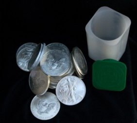 Roll Of Us Silver Eagles 1 Oz (20)