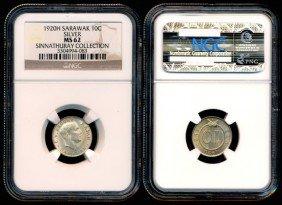 Sarawak CV Brooke 10 Cents 1920H NGC MS62