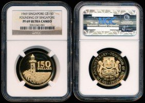Singapore $150 1969 NGC PF69UC