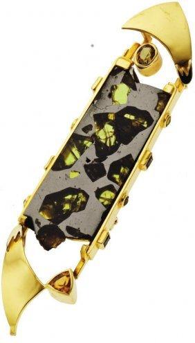 Meteorite, Gold Brooch, Michael Sherman