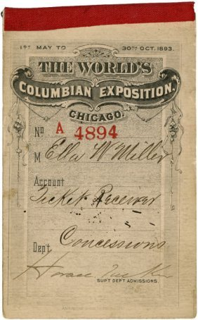 World's Columbian Expo Complete Ticket Book