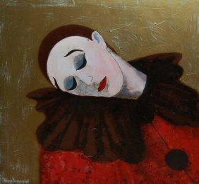 """Bedrossian Nubar (French 20th Century) """"Clown Au Re"""