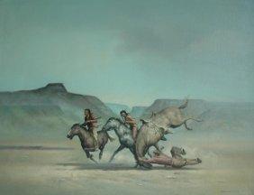 """Bodner Joseph (American) """"Man Falling From Hors"""