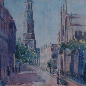 Henoch Stella (American 20th Century) ��Church Stre
