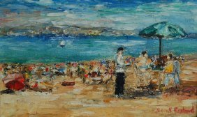 Rostand Michel (French 1895- 1976)  �Beach�