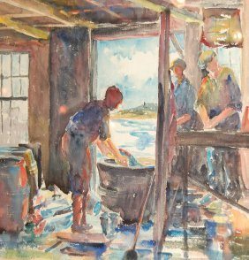 Henoch Stella (American 20th Century)  ��Salting Po