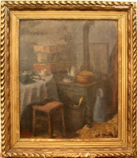 "Tourte Suzanne (French 1904-1979) ""Kitchen Interio"