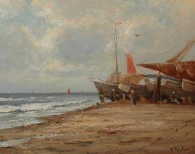 Reuter Helmut (German Born1913) �The Fishing Boat�