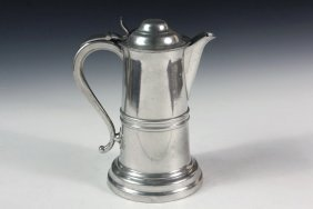 Large Pewter Flagon - Flagon By Roswell Gleason,
