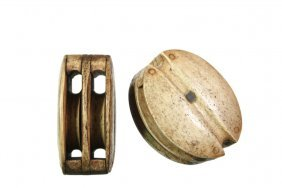 Pair Of Whalebone Ship Pulleys - Sailor Made