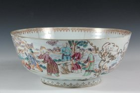 Chinese Porcelain Punch Bowl - An 18th Century Chinese