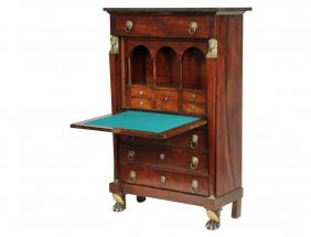 French Abattant - Directoire Period Cabinet Desk In