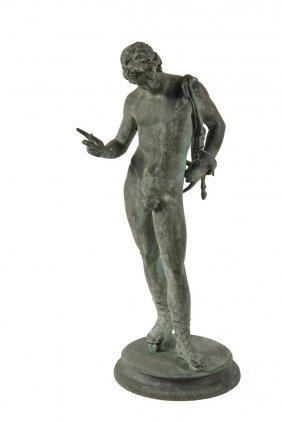 """Michele Amodio (italian, 19th C) - """"narcissus"""","""
