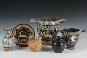 (6 Pcs) Ancient Greek And Etruscan Pottery - Including: