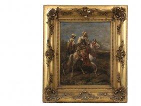 Adolf Schreyer (germany, 1829-1899) - Bedouin Horsemen,