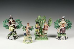 (4) Miniature Staffordshire Scots Figures - All Early