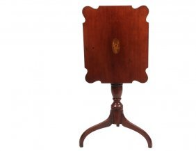 Candlestand - Cherry Tilt Top Candlestand With American