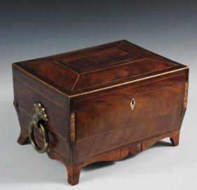 English Sewing Box - Regency Casket Form Sewing Box,