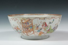 Chinese Export Punch Bowl - Small Porcelain Punch Bowl